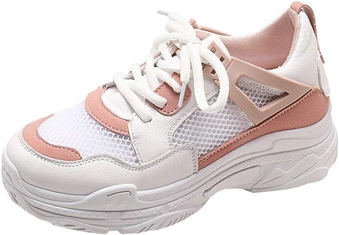 Zapatos de Mujer, ASHOP Zapatillas Deportivas de Running para Mujer Sneakers de Malla Transpirable de Suela Gruesa de Entrenamiento: Amazon.es: Ropa y accesorios