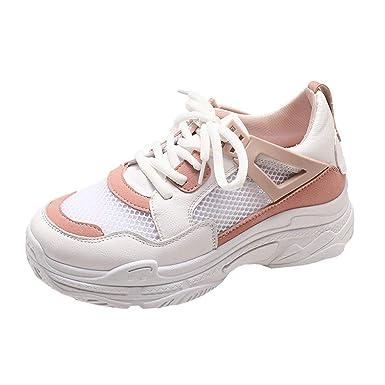 Zapatos de Mujer, ASHOP Zapatillas Deportivas de Running para Mujer Sneakers de Malla Transpirable de Suela Gruesa de Entrenamiento