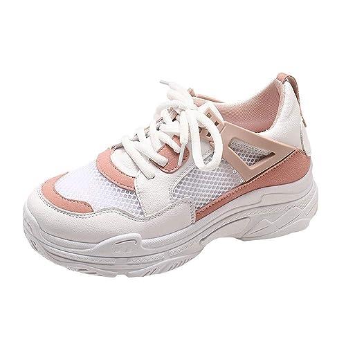 Cinnamou Zapatillas Deportivas de Mujer Running Trail Gym Sneakers de Scrub Comodos Zapatos de Trabajo de Tacón: Amazon.es: Zapatos y complementos