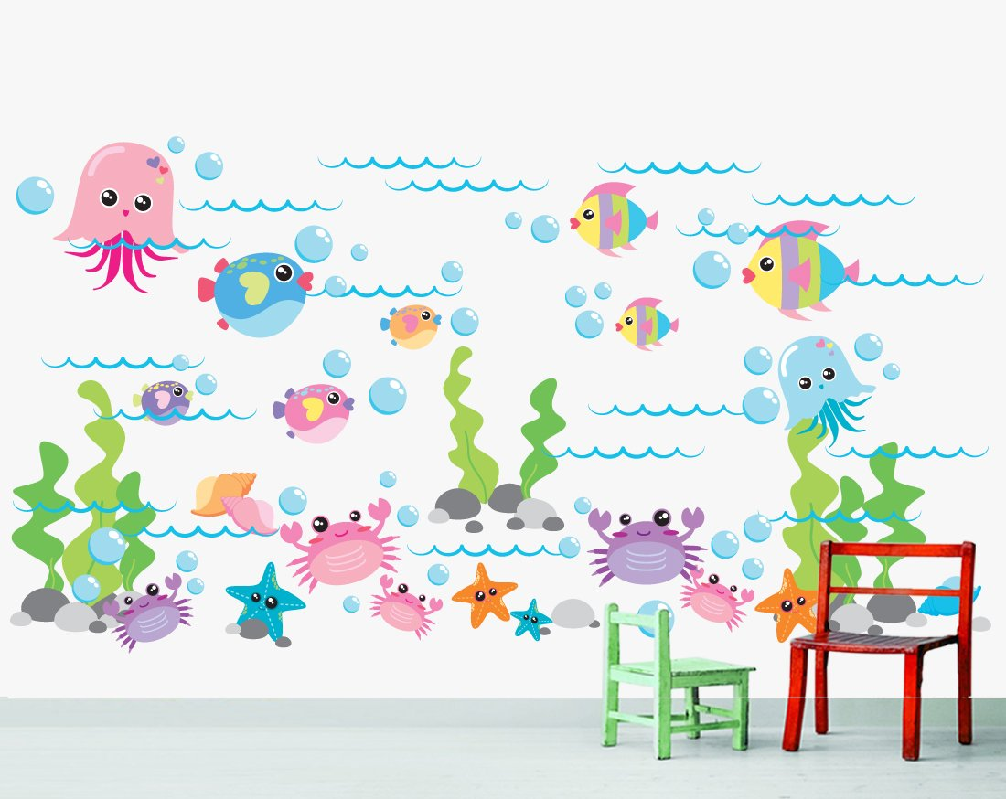 Amazon marine life sea wall decal stickers baby amipublicfo Gallery