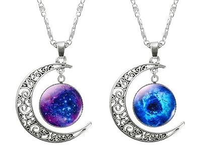 78cb78c31787 2 Collar Cadena Ajustable Colgante Luna Creciente Joyería Regalo para Mujer  Moda  Amazon.es  Joyería