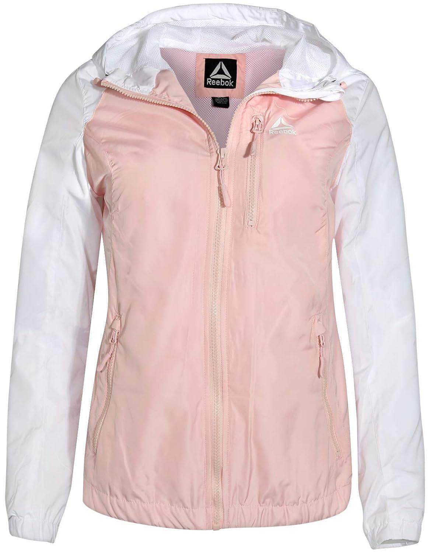 bluesh Reebok Ladies Lightweight Hooded Jacket with Cell Phone Pocket