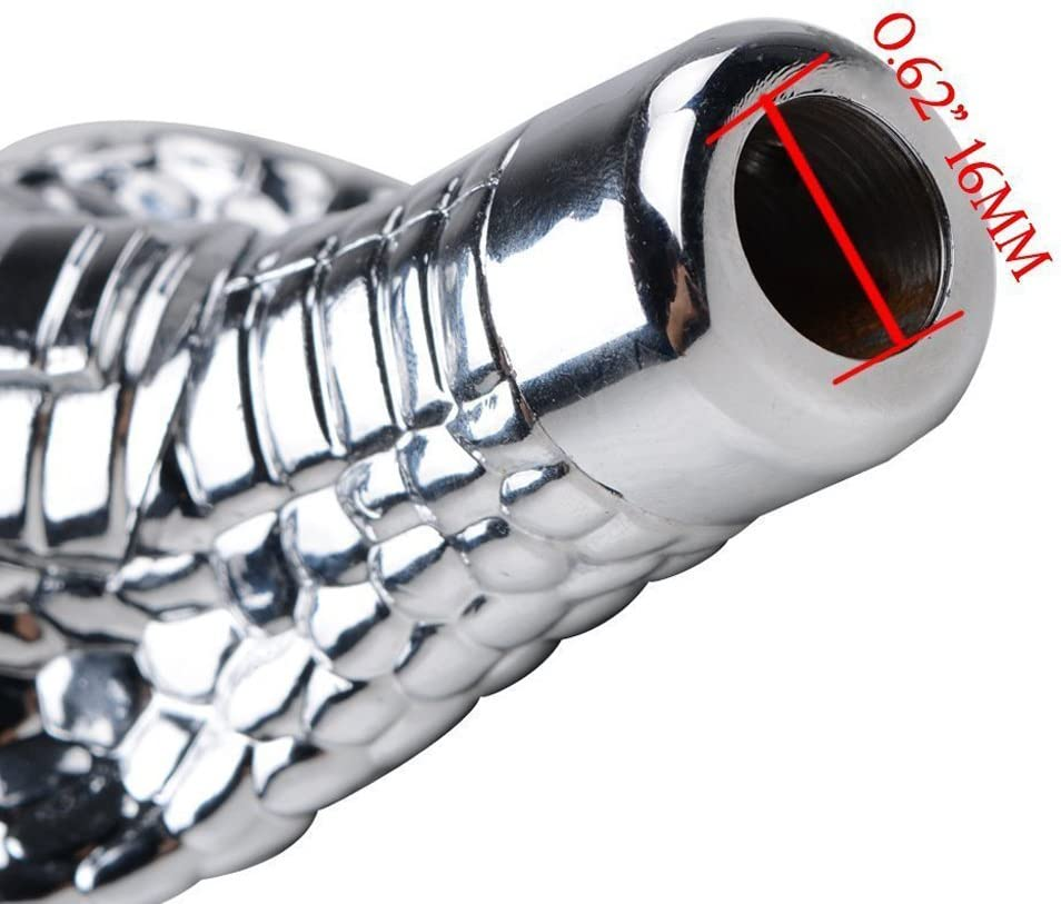 Car Snake Head ABS Gear Shift Knob Car Motion Activated LED Light Handle Shifter Manual Automatic Gear Shifting Knob Beaums