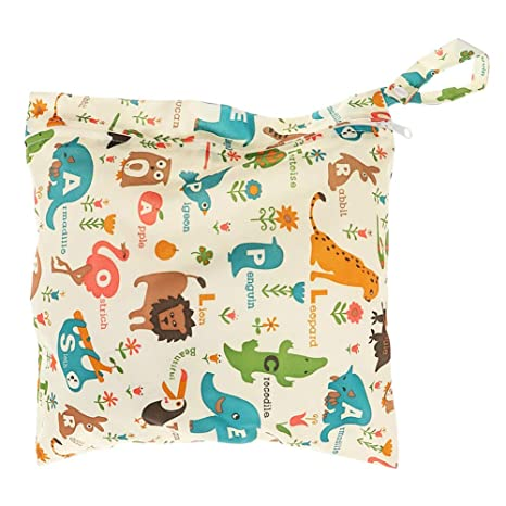 deanyi bolso cambiador Baby impermeable cremallera funda lavable reutilizable beb/é toalla Bolsa para pa/ñales//Animales y Flores Beige babyproducts