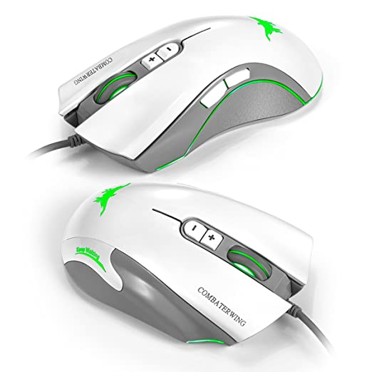40 opinioni per Combaterwing CW10 4800 dpi Wired Gaming Mouse Mice 7 LED colores cambiantes