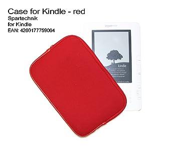 Zipper Funda Kindle con cierre de cremallera, color rojo. Neopreno ...