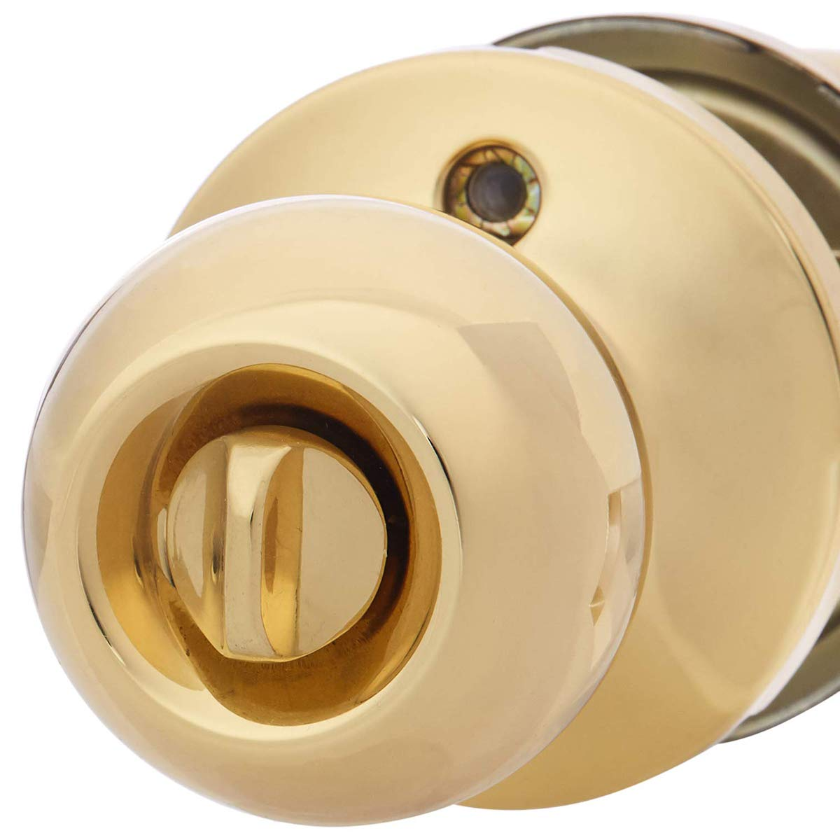 AmazonBasics Entry Door Knob - Standard Ball - Polished Brass by AmazonBasics (Image #2)
