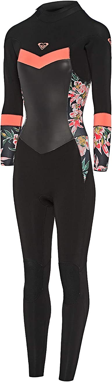 Black Jet Black Thermal Warm Heat Layer Layers Easy Stretch Lightweight Roxy Womens Syncro 5//4//3mm Back Zip Wetsuit