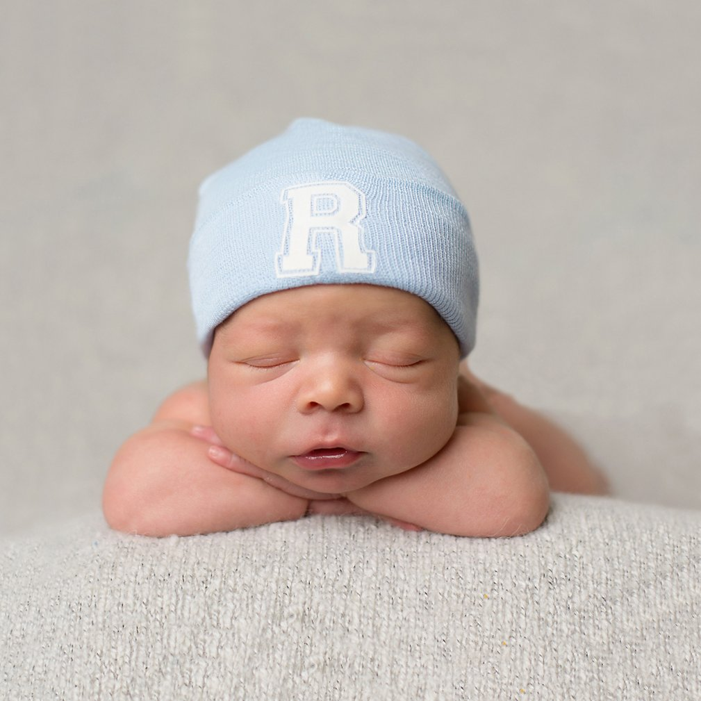 Excellent Amazon.com: Melondipity's First Letter Initial Newborn Boy Blue  YM71