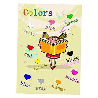 Fenteer Grafica Parete Educativa Accessorio da Insegnare Apprendimento Precoce - Colore