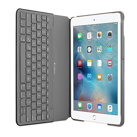Funda de teclado Logitech de lona para iPad Air 1 negro negro