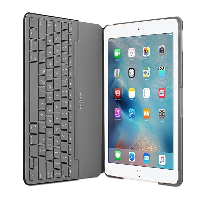 Funda de teclado Logitech de lona para iPad Air 2 negro negro: Amazon.es: Informática