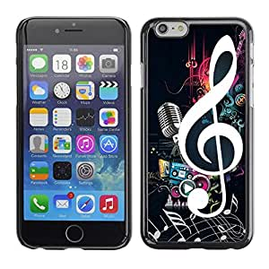 PC/Aluminum Funda Carcasa protectora para Apple Iphone 6 Just Music; / JUSTGO PHONE PROTECTOR