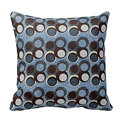 Amazoncom Modern Circles Pattern Blue And Brown Tones Throw Pillow