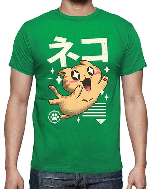 latostadora - Camiseta Camisa Felpa Kawaii para para Hombre Verde Pradera S: vp021: Amazon.es: Ropa y accesorios