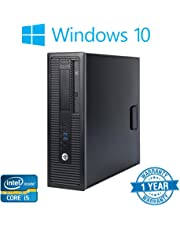 HP EliteDesk 800 G1 SFF Black Desktop PC, Intel Quad Core i5-4570 3.20GHz, 8GB RAM, 256GB SDD with Windows 10 Pro (Renewed)