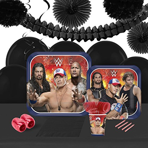 WWE Never Give Up16 Guest Tableware & Deco Kit by BirthdayExpress