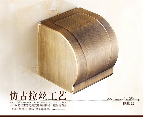 Estante de toalla antiguo cobre cuarto de baño hardware del cuarto de baño fijado estilo europeo estante de toalla retrete estante: Amazon.es: Bricolaje y ...