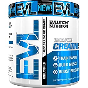 Evlution Nutrition Creatine5000 5 Grams of Pure Creatine in Each Serving Unflavored Powder 60 Servings