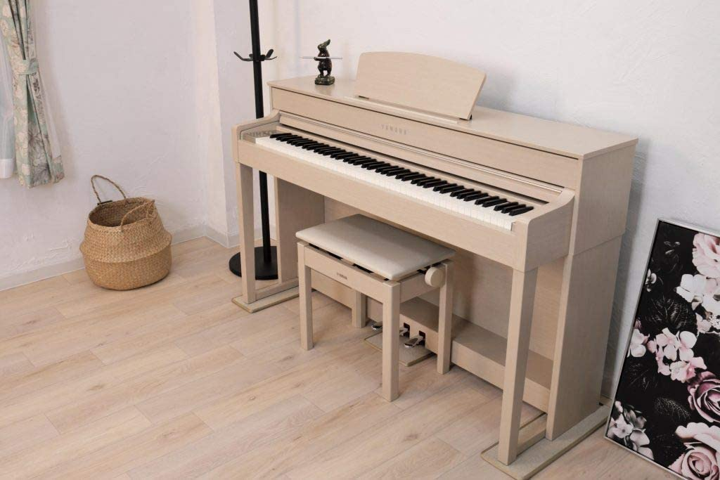 【 3Points Mat 】 電子ピアノ 専用マット 3PM-1 3点敷き新タイプ 防音/防振/防傷 (オフホワイト/OW)