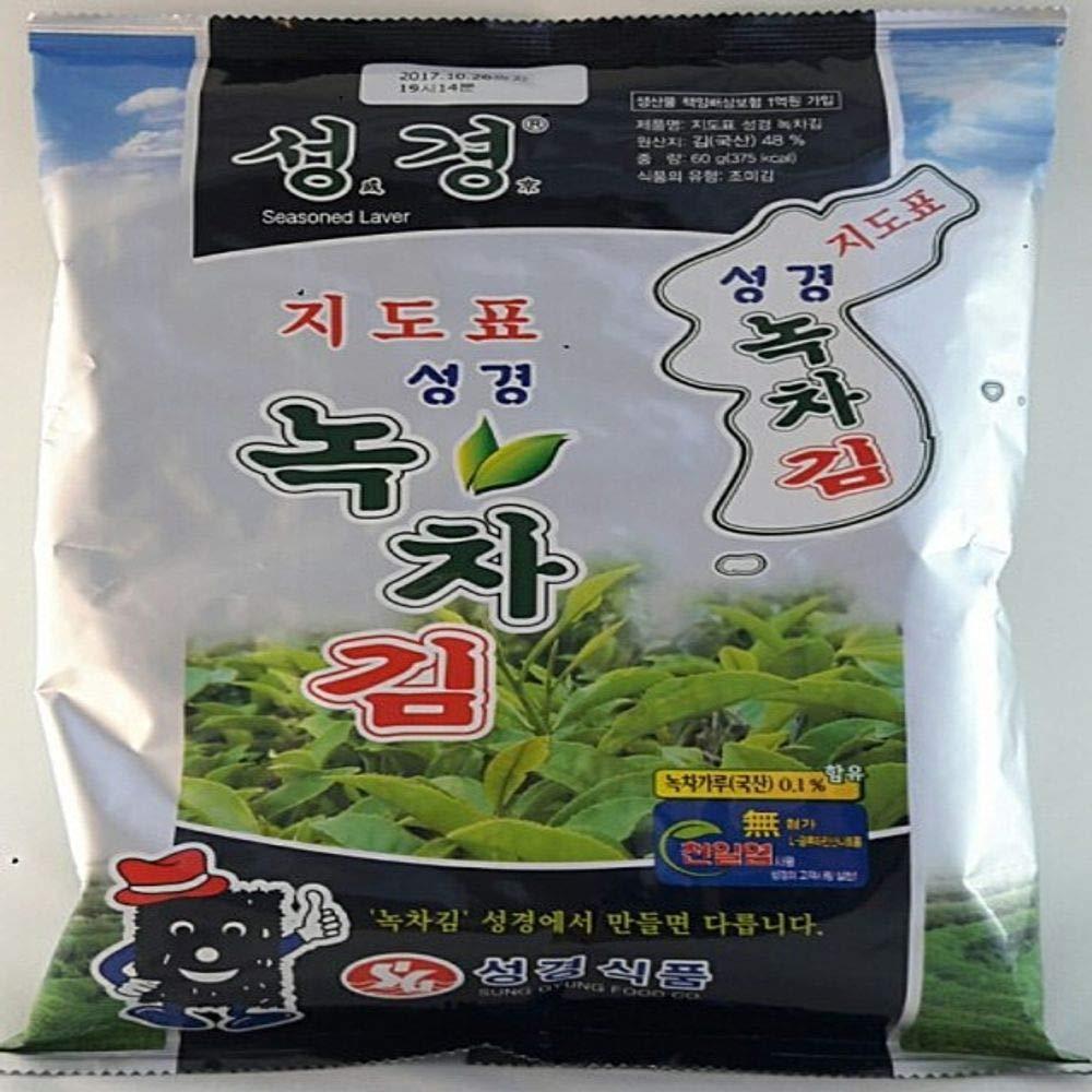 Traditional Type Green Tea Seaweed Laver 60g, Product of Korea