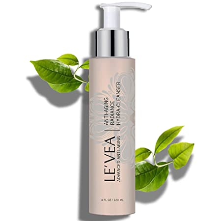 LE VEA Hydrating Cleanser Anti-Aging Wrinkle Repair Natural Face Wash Professional Formula Radiance Face Cleanser for women and men – 4 oz
