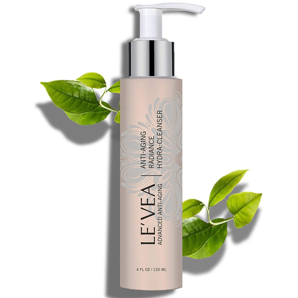LE'VEA Hydrating Cleanser Anti-Aging Wrinkle Repair Natural Face Wash Professional Formula Radiance Face Cleanser for women and men - 4 oz