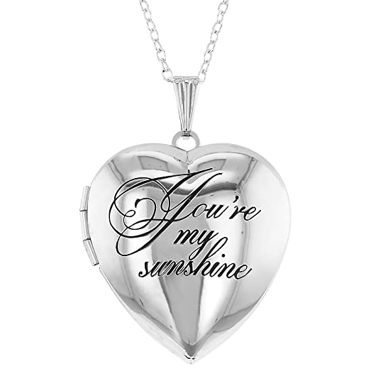In Season Jewelry Heart Shaped Photo Locket Grandmother Granddaughter Love Pendant Necklace 19 mVt0pG