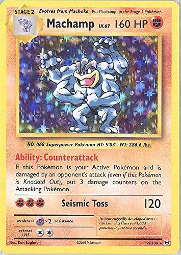 Pokemon - Machamp (59/108) - XY Evolutions - Holo