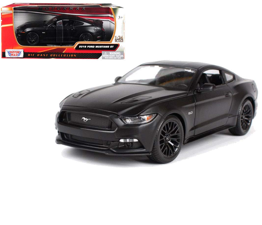 Amazon com diecast 124 w b 2018 ford mustang gt matte black toys games