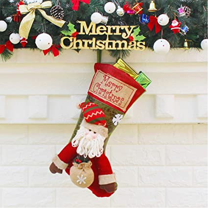 High Quality Lifeupmall Unique Color Christmas Stockings Cute Santa U0026 Snowman U0026 Elk Gift  Bags For Holiday Decorations