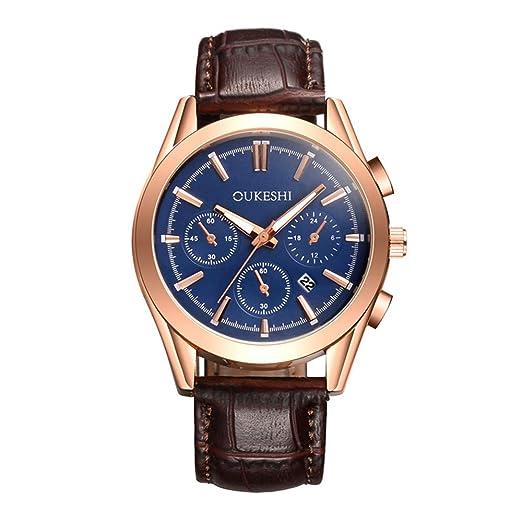 DRKJ Reloj De Moda para Hombre, Calendario De Alta Gama, Reloj De Cuarzo para Hombre.: Amazon.es: Relojes