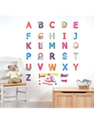 3D Kids Nursery Wall Decals, ABC Peel and Stick Colorful Art Decal Stickers for Children, Babies Bedroom