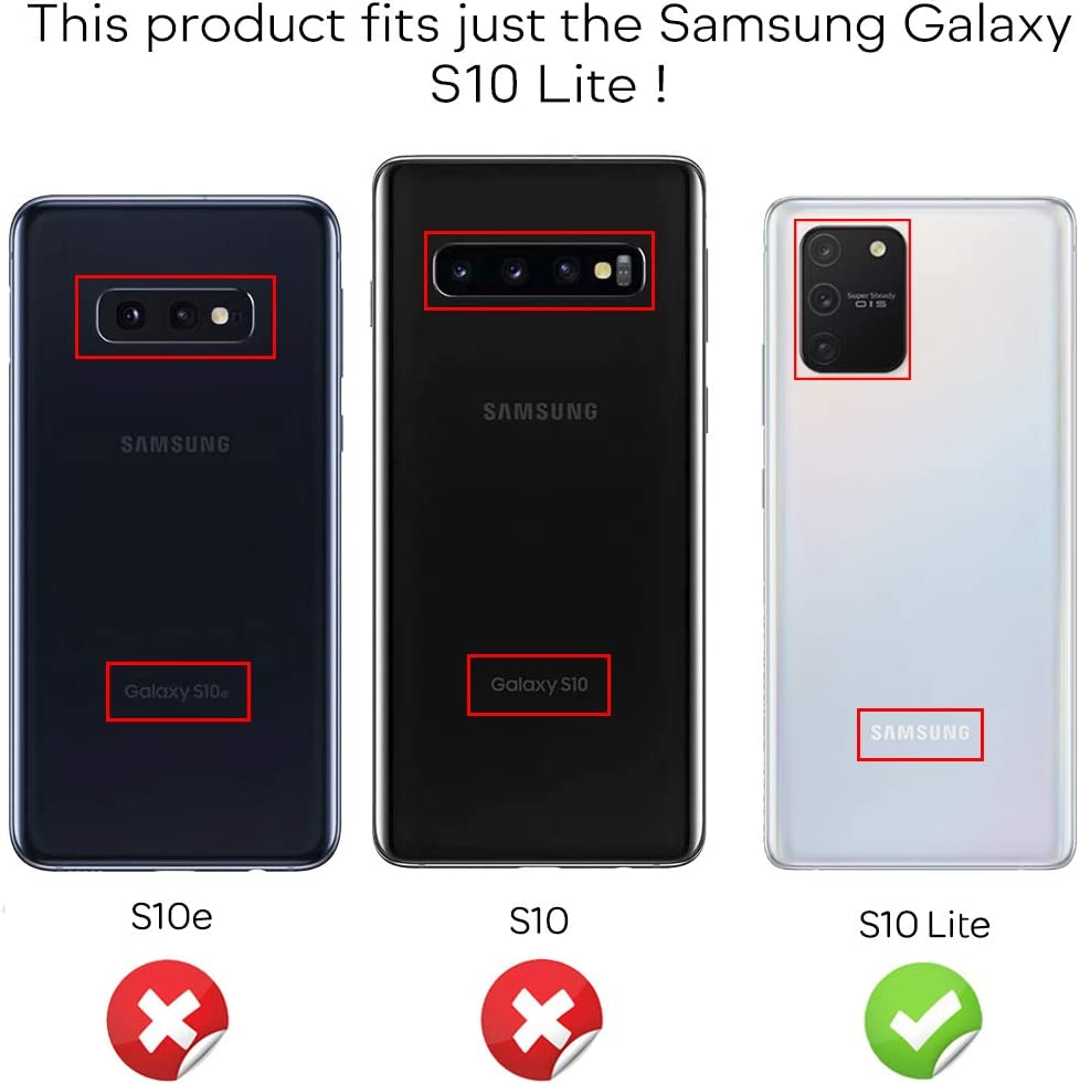Transparent Anti-Choc Mince Telephone Portable Protege NALIA 360 Degr/és Housse Compatible avec Samsung Galaxy S10 Lite Coque Transparent Full Cover Complet Case Arriere /& Protection Ecran Avant