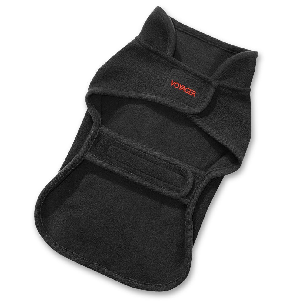 Best Pet Supplies 251-BK-S Voyager Windproof Fleece Pet Jacket, Small, Black by Best Pet Supplies, Inc. (Image #2)