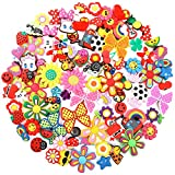 PP OPOUNT 100 Pieces PVC Shoe Charms 64 Different Shapes Jibbitz Charms Including 36 Pairs Same Pattern and 28 Pieces Single Pattern Jibbitz Charms for Croc& Jibbitz Bands Bracelet Wristband