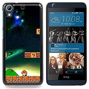 """Mario Mushroom"""" - Metal de aluminio y de plástico duro Caja del teléfono - Negro - HTC Desire 626 626w 626d 626g 626G dual sim"""
