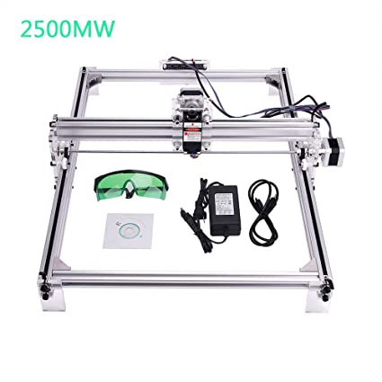 MYSWEETY DIY CNC Laser Engraver Kits, 40x50cm 2500mW Wood Carving Engraving  Cutting Machine Desktop Printer Logo Picture Marking, 2 Axis