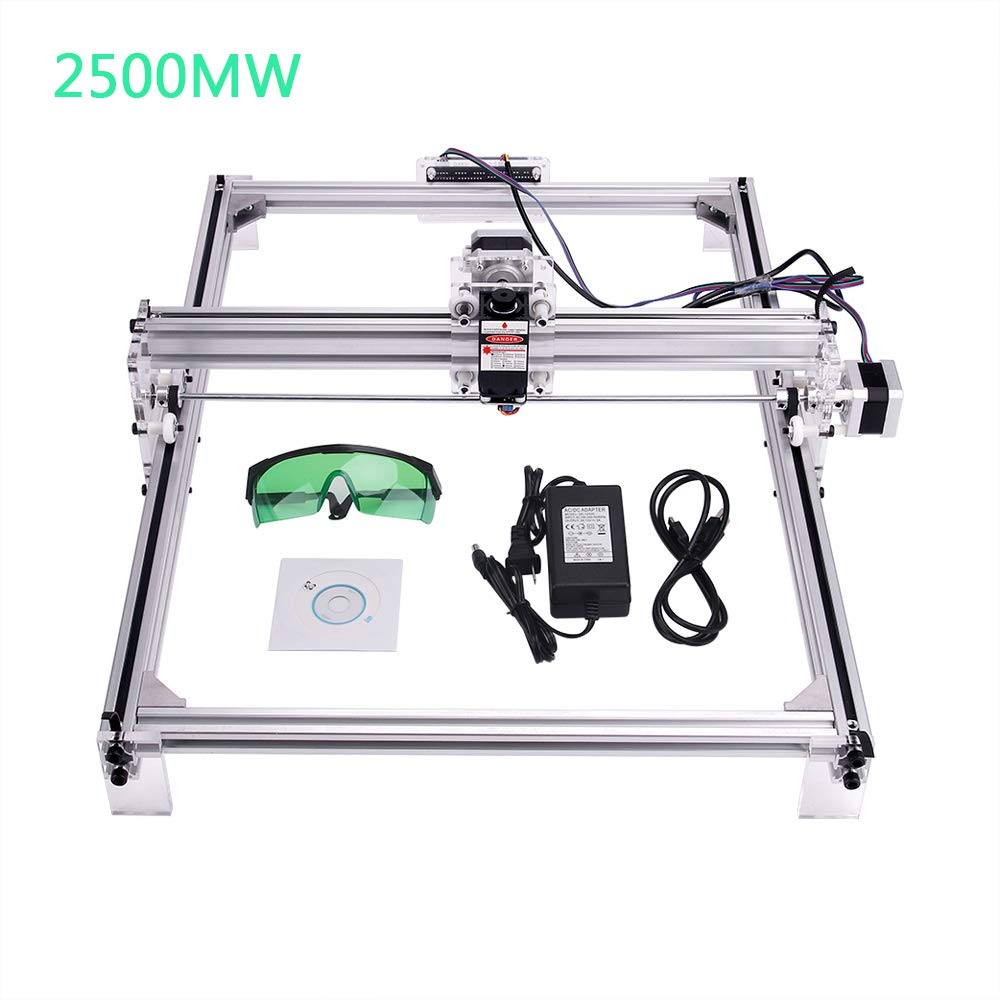 MYSWEETY DIY CNC Laser Engraver Kits, 40x50cm 2500mW Wood Carving Engraving Cutting Machine Desktop Printer Logo Picture Marking, 2 Axis by MYSWEETY (Image #1)
