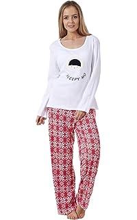e5b7e425cff9 Ex Famous Store Ladies Pyjama Set Fleece Winter Warm Long Sleeve Womens  Nightwear PJ s