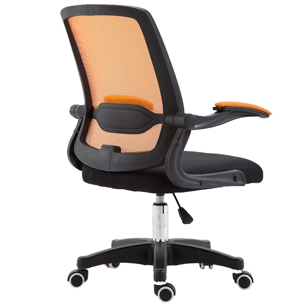 PeaceipUS Home Computer Chair Back Office Chair,Lift Staff Chair Dormitory Simple Chair,Conference Chair (mesh) (Color : Orange)