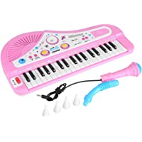 Kid Electronic Keyboard Piano with Microphone 37 Keys Educational Instrument Toy Baby Gift