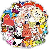 Fiton (Sticker) 50pcs Cartoon Style Sticker Anime Cute Animal Children's Stickers for DIY Skateboard Bicycle Laptop Suitcase Notebook Stickers