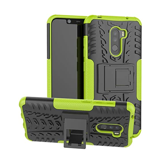 san francisco 139df 1c291 Xiaomi Pocophone F1 Case, Shockproof Rugged Anti-Drop Armor Hybrid  Full-Body Holder Protective Back Cover with Kickstand for Xiaomi Pocophone  F1 ...