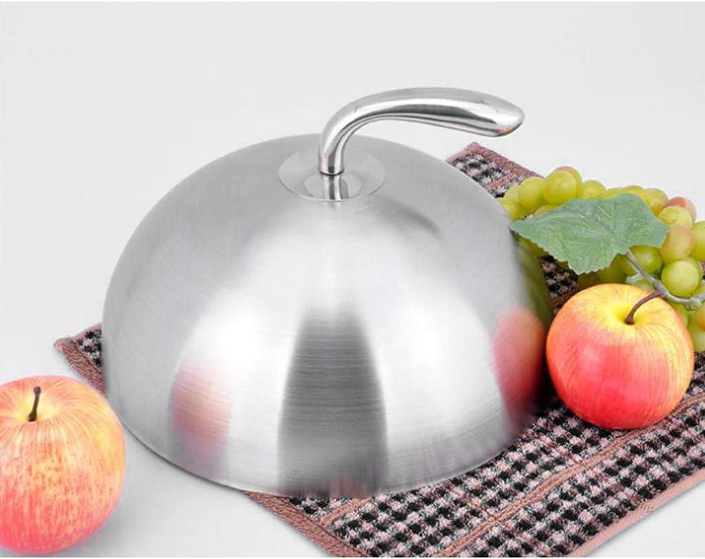 KKPLZZ Cloche en Acier Inoxydable Couvercle Alimentaire d/ôme Assiette de Service Plat Cloche Pot pour Restaurant Maison Cuisine caf/é