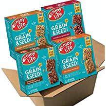Enjoy Life Grain & Seed Bars, Soy-free, Nut-free, Gluten-free, Dairy-free, Non-GMO, Vegan, 4 Boxes of 5, 1 Ounce Bars (20 Count)