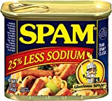 SPAM 25% Less Sodium, 12-Ounce Cans (Pack of 6)