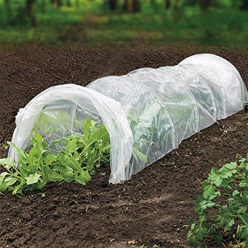 UniEco Grow Tunnel Garden Polythene Tunnel Minni Greenhouse 236'' L x 24'' W x 18'' H by UniEco