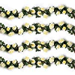 YILIYAJIA-4PCS288-FT-Artificial-Rose-Vines-Fake-Silk-Flowers-Rose-Garlands-Hanging-Rose-Ivy-Plants-for-Wedding-Home-Office-Arch-Arrangement-Decoration