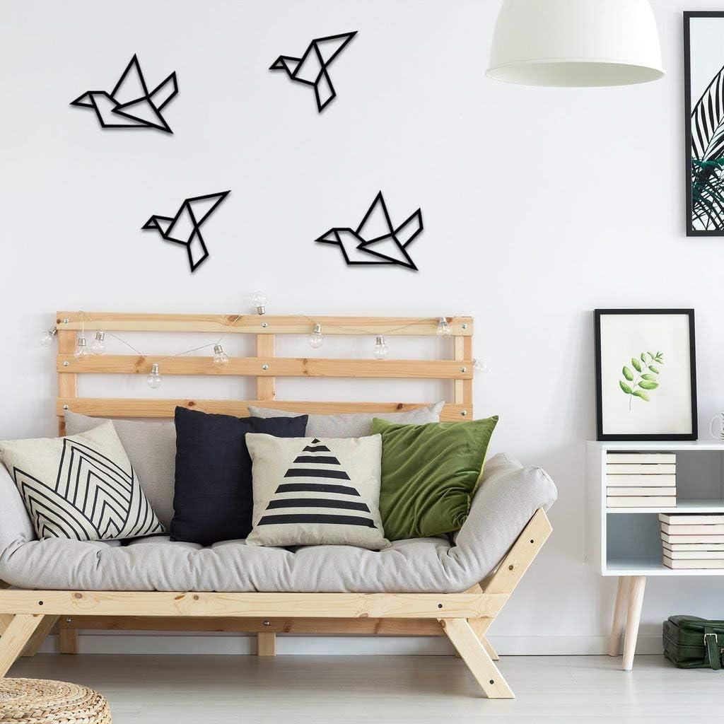 paradise RANFORCE Metal Wall Art, Metal Geometric Birds Decor, Metal Wall Decor, Interior Decoration, Home Office Decoration